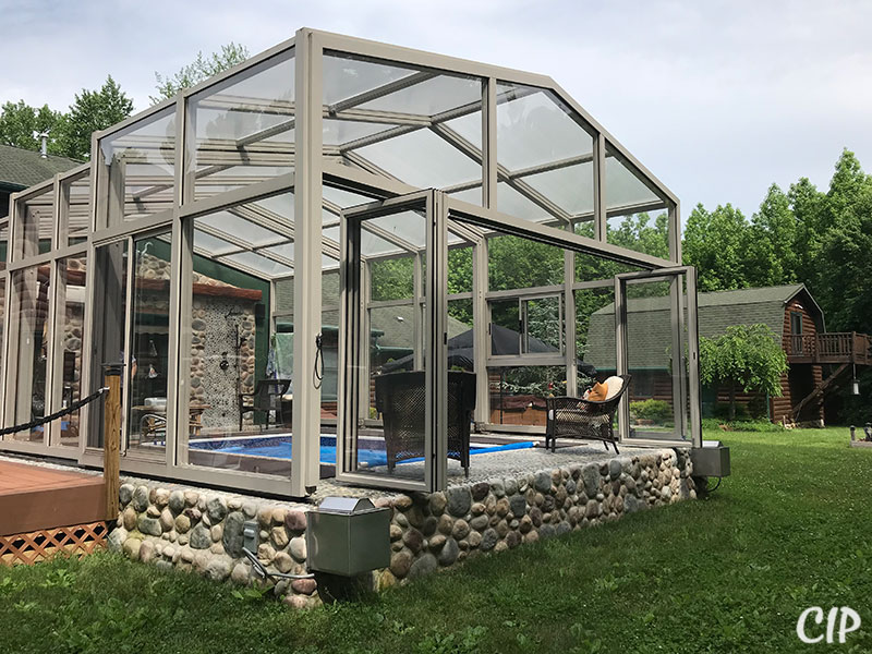 Pool Enclosure with Bi-fold doors
